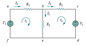 a circuit with two meshes