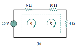 A circuit with a current source.